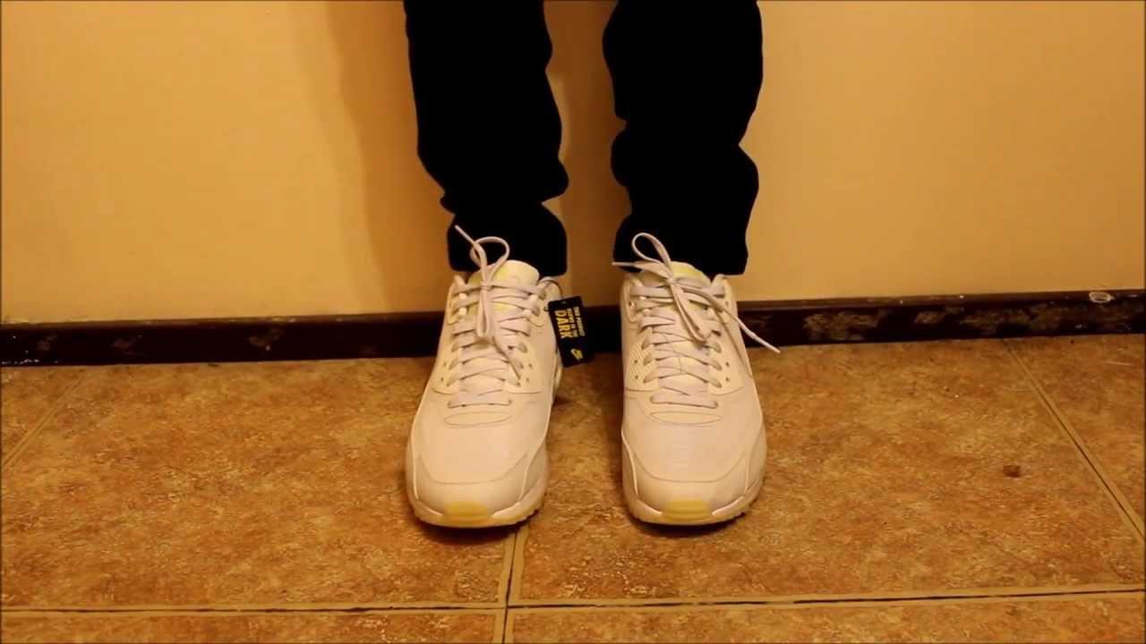 Air Max 90 White On Feet