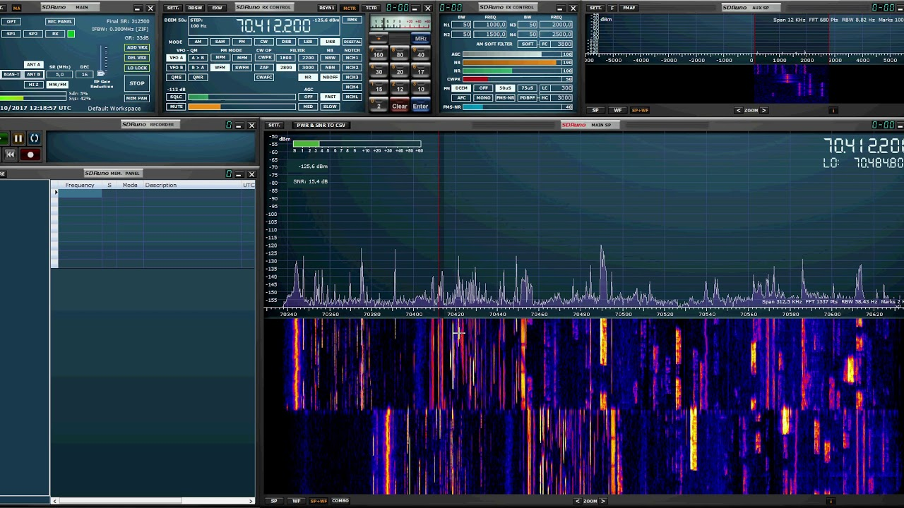 Panadapter SDRPlay + Xiegu X5105 avec SDRUno 1 2 by Passion RadioAmateur
