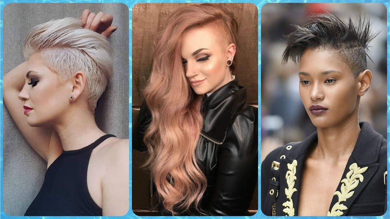 20 new ideas for women's 💝 side shaved hairstyles
