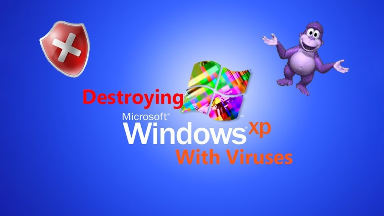Windows Xp 3d Wallpaper Free Download Destroying Windows Xp With Viruses Youtube