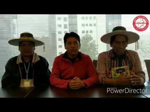 Declaraciones de Marco Pumari y del comité cívico de Potosí