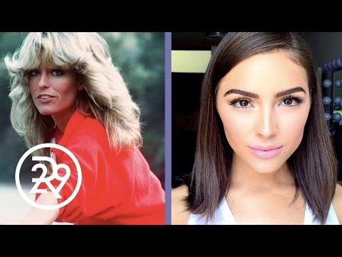 Olivia Culpo is Transformed into Farrah Fawcett by Make-up Artist Raja | Refinery29
