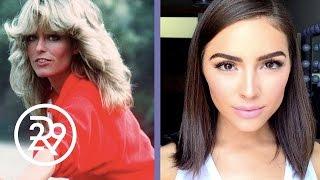Olivia Culpo is Transformed into Farrah Fawcett by Make-up Artist Raja   Refinery29