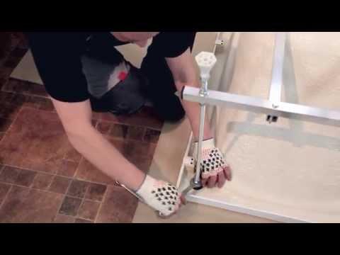 Установка усиленного алюминиевого каркаса на ванны Стандарт, Джена