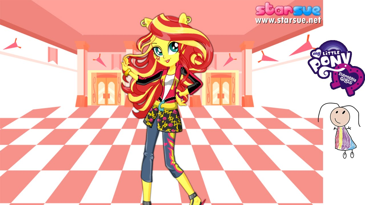 Sunset Shimmer School Spirit Style Dress Up Game Juego