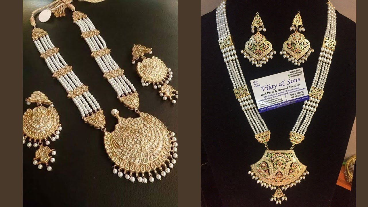 Pearl And Gold Necklace Designs 2019 Indian Jewellery Design 2019 Youtube