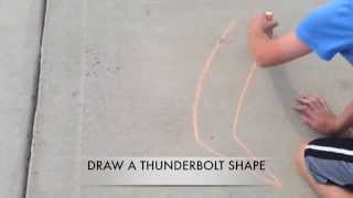 Simple Sidewalk chalk illusions