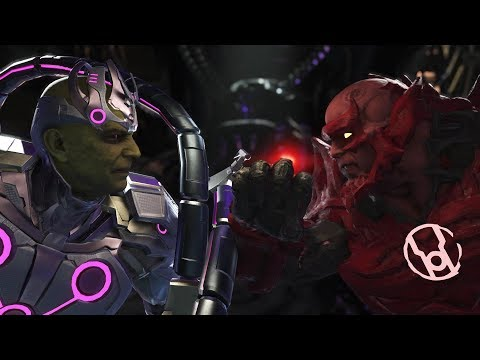 Injustice 2 : Brainiac Vs Atrocitus - All Intro/Outros, Clash Dialogues, Super Moves