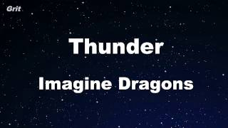 Thunder - Imagine Dragons Karaoke 【No Guide Melody】 Instrumental