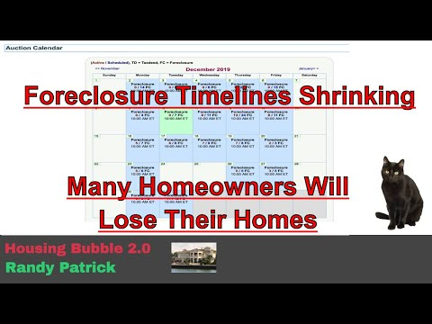 Housing Bubble 2 0 - Foreclosure Timelines Shrinking - Many