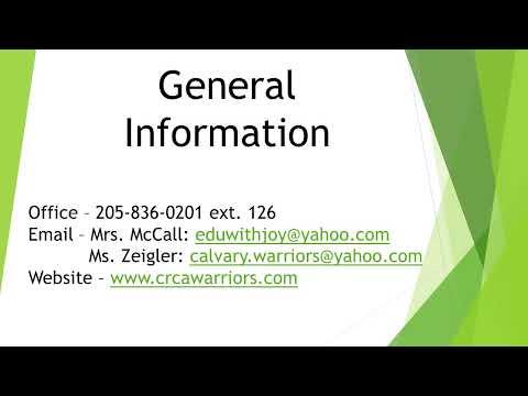 Calvary Resurrection Christian Academy Live Stream