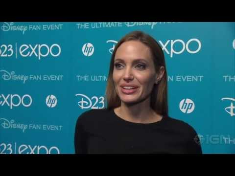 Maleficent - Angelina Jolie Interview at D23 - YouTube
