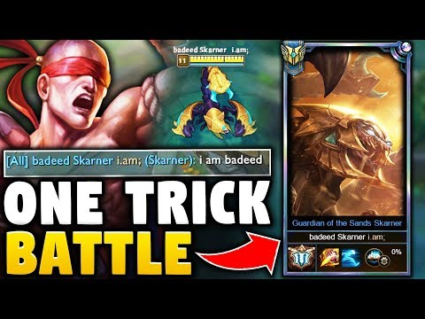 MY LEE SIN FACES THE #1 SKARNER NA | BATTLE OF THE ONE TRICKS | Road to Masters - League of Legends