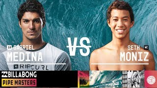 Gabriel Medina vs. Seth Moniz - Round Three, Heat 6 - Billabong Pipe Masters 2018