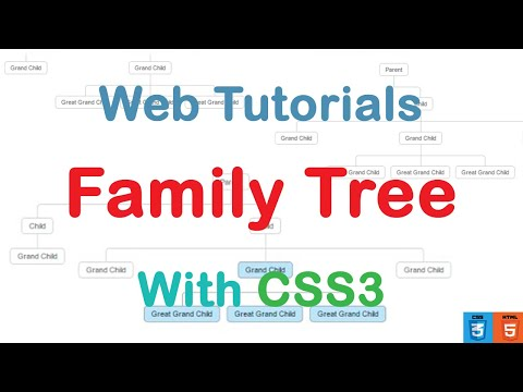 Family Tree With CSS3 Simple Markup + Source (web Tutorials - уроки по веб)