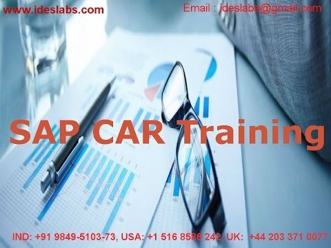 SAP CAR Training video  | SAP CUSTOMER ACTIVITY REPOSITORY course demo