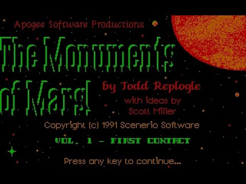"Enter the Monument! - Ep. 1 - Let's Play ""Monuments of Mars"" (DOS)"