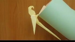 Как сделать  попугая из бумаги. Оригами попугай из бумаги. Origami parrot.