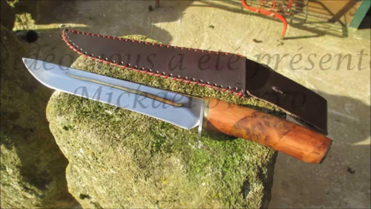 Custom knife fabrication d 39 un couteau de chasse youtube - Comment bien aiguiser un couteau ...