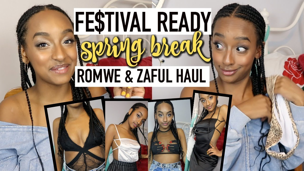 [VIDEO] - I BOUGHT SPRING BREAK OUTFITS ON ZAFUL & ROMWE?! | Music Festival Clothing Haul 9