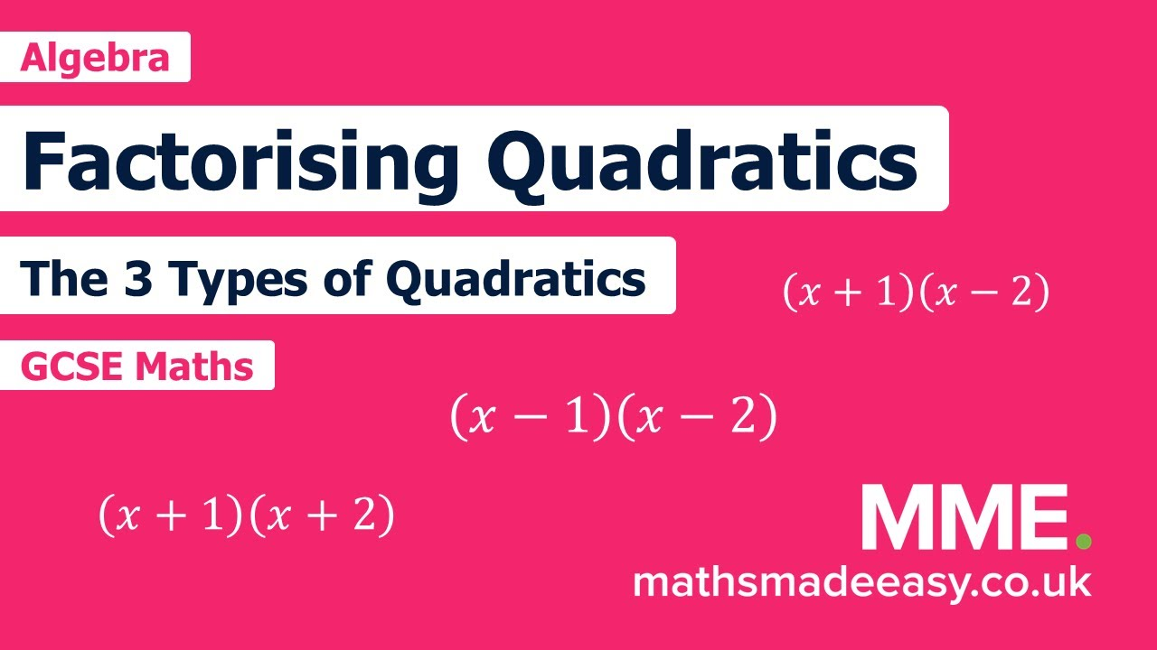 Factorising Quadratics Worksheets  Questions and Revision  MME Regarding Factoring Quadratic Expressions Worksheet