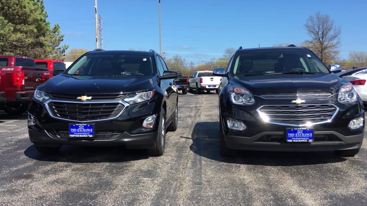 2018 Equinox and 2017 Equinox Side by Side Comparison ...
