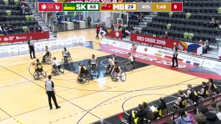 2019 CWG - Wheelchair Basketball - Game 3 - SK vs MB