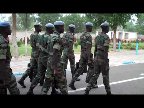 Senegalese Army Marching