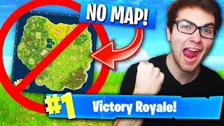 WINNING Fortnite WITHOUT A MINI-MAP! (Impossible Fortnite: Battle Royale Challenge)