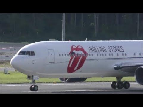 Rolling Stones arriving in Zürich-Kloten (with live ATC)