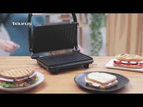 Taurus Grill Toast Sandwichera 700 Watt Placas De Grill Antiadherentes Youtube