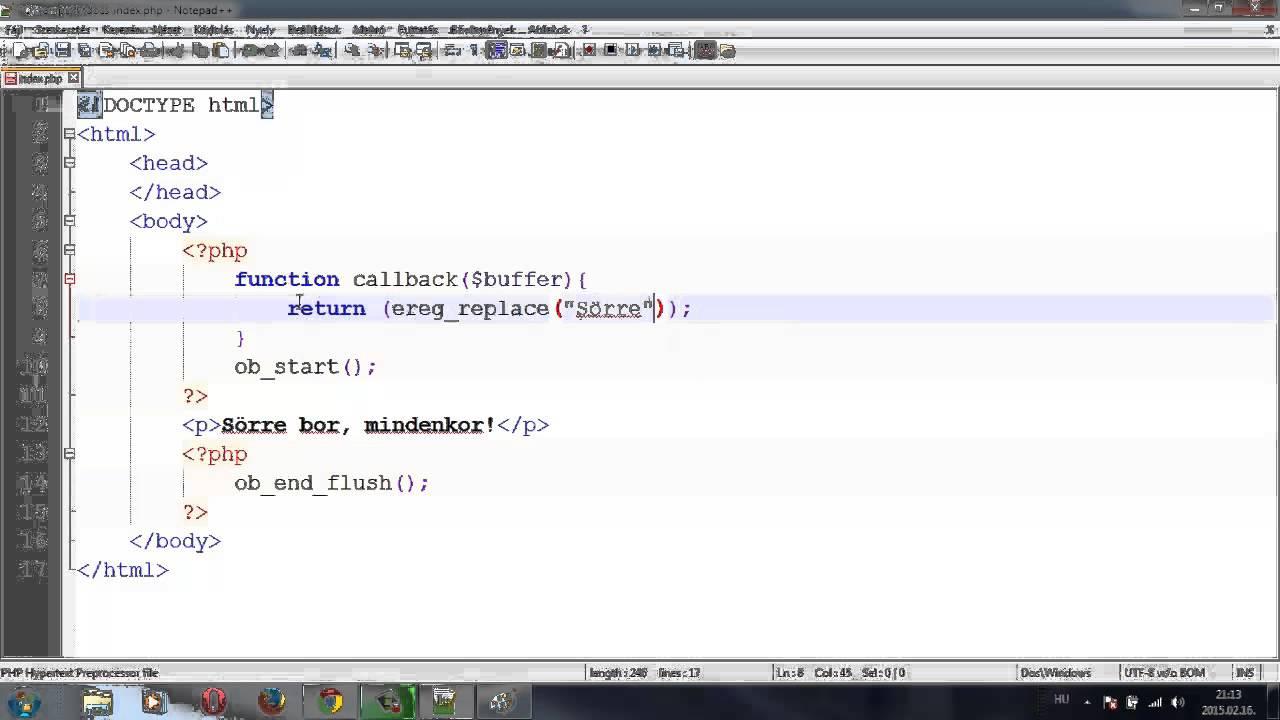 php ob_start