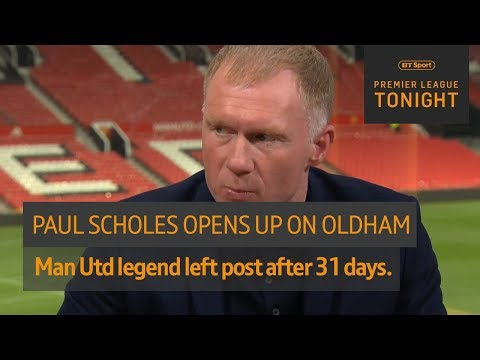 """There was no hot water!"" Paul Scholes opens up on his short spell as Oldham manager 