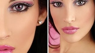 Barbie Doll Makeup Tutorial (PINK)