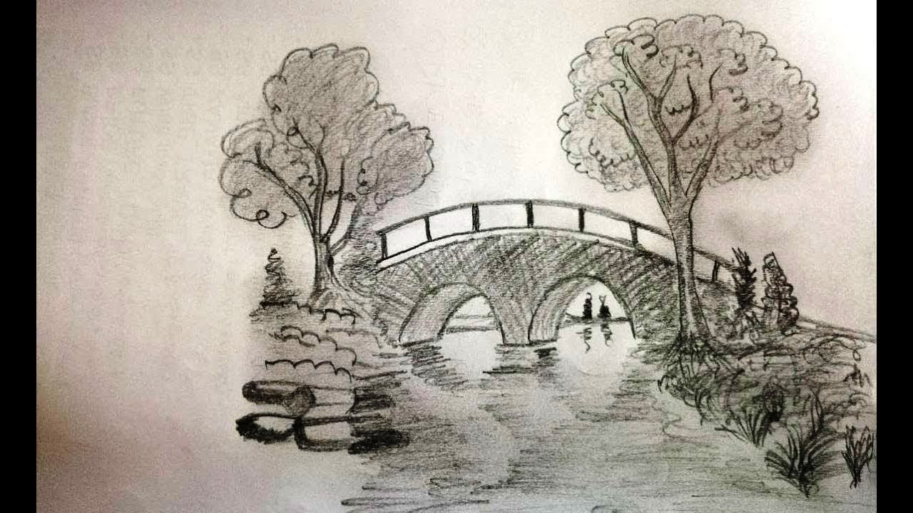 Pencil Sketch Bridge