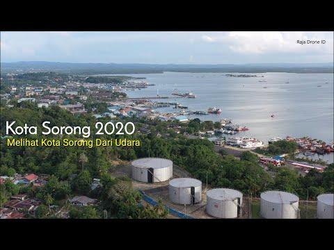 Kota Sorong dari Udara, Drone View Papua 2020