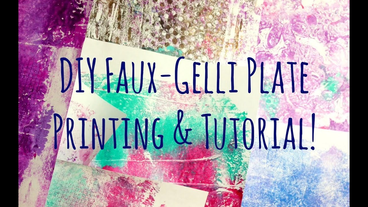 Art hack how to make a diy faux gelli plate and printing tutorial art hack how to make a diy faux gelli plate and printing tutorial homemade gelli printing plate baditri Gallery