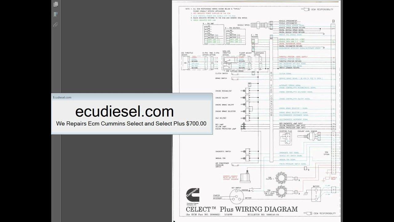 cummins l10 n14 m11 wiring diagram youtube m11 celect plus wiring diagram cummins l10 n14 m11 [ 1280 x 720 Pixel ]