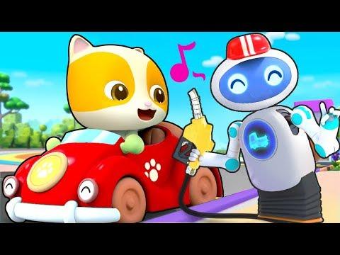 神奇的加油機器人 | 兒歌童謠 | 卡通動畫 | 寶寶巴士 | Learn Chinese | BabyBus