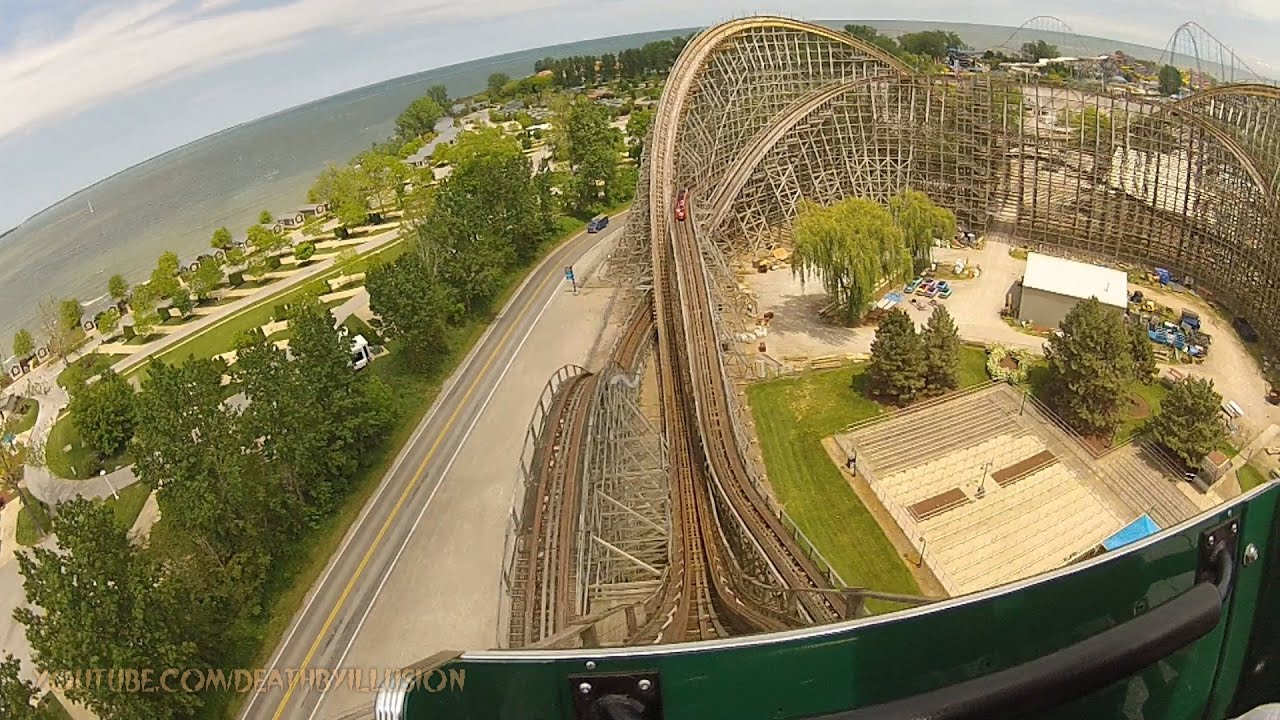 Mean Streak On Ride Front Seat Hd Pov Cedar Point Youtube