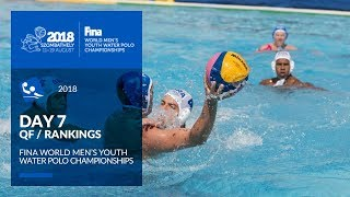 LIVE Water Polo Day 7 QF SF 4th FINA World Men's Youth Water Polo Championships 2018