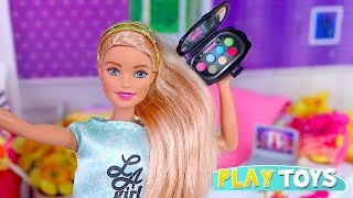 Barbie Girl Vlogs for Prom Night Dress and Make up Toys! 🎀