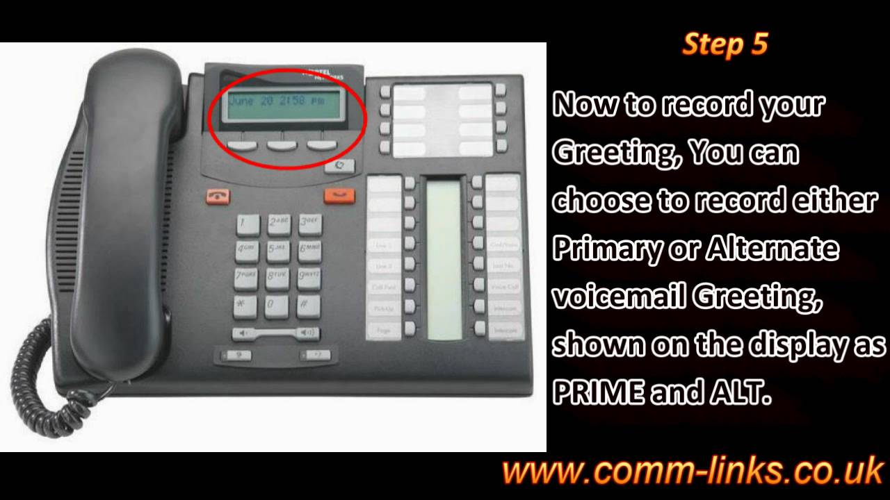 How to record your personal voicemail greetings on a meridian how to record your personal voicemail greetings on a meridian norstar youtube m4hsunfo