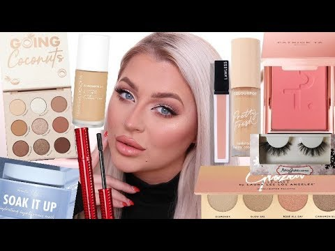 TRYING NEW MAKEUP   FULL FACE FIRST IMPRESSIONS! thumbnail