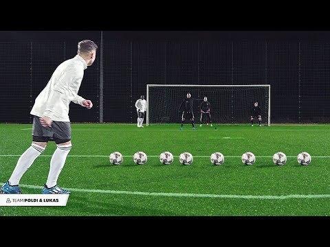 Podolski & Asamoah vs freekickerz - Football Challenge