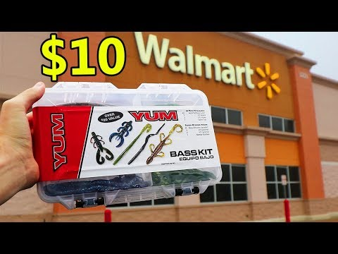 $10 Fishing Kit Wal-Mart CHALLENGE (Budget!)