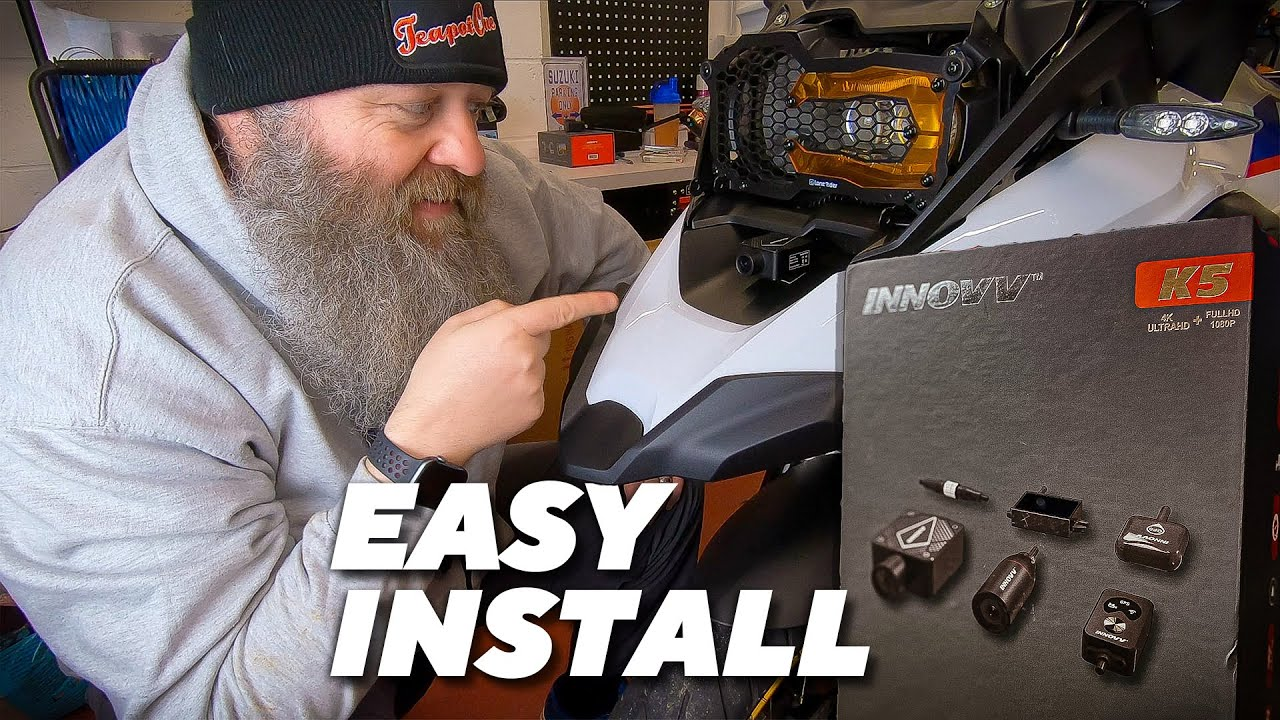 Innovv K5 Installation - How to Install Flagship 4K Motorcycle Dashcam System on Any Bike
