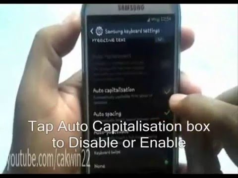 how to change auto capitalization on android