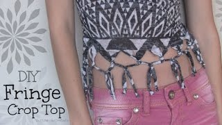 Fringe Shirt // Crop Top - How To - Summer DIY - T-Shirt Recon Thumbnail
