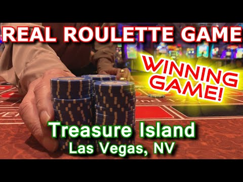 WINNING BY MYSELF! - Live Roulette Game #25 - Treasure Island, Las Vegas, NV - Inside The Casino